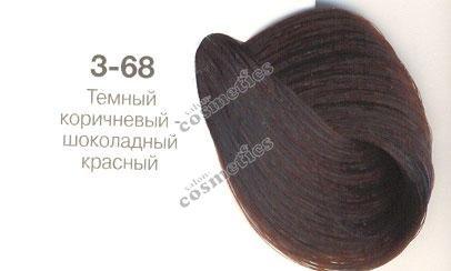 Constant Delight краска для волос 3/68 темно-коричневый шоколадный красный.